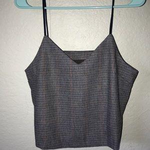 NWT plaid blouse/tank top